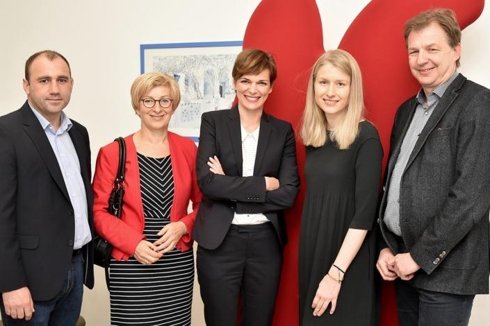 Mit BM Rendi-Wagner zu Besuch bei PHC in Enns